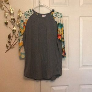 LuLaRoe 3/4 quarter sleeve shirt